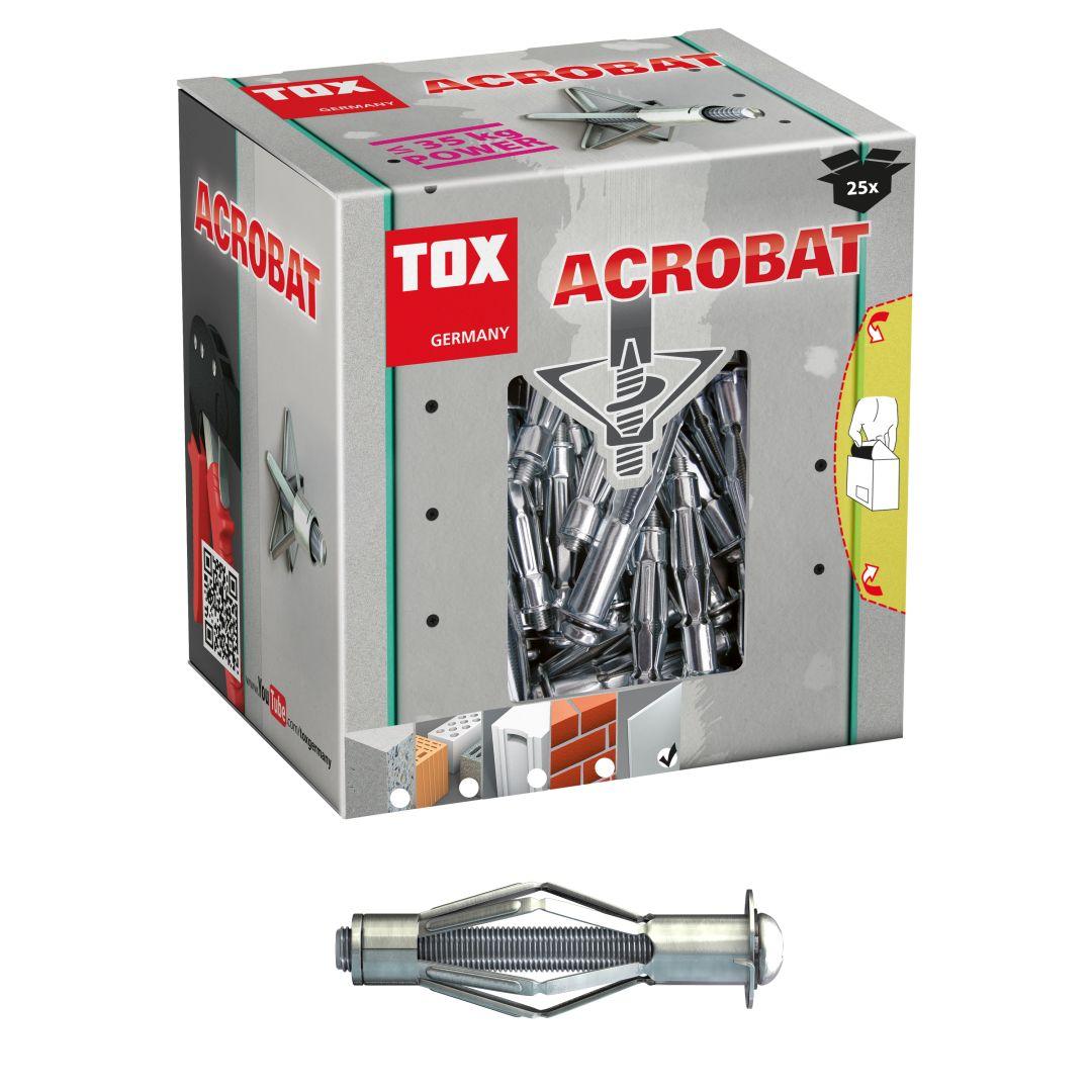 TOX Metall-Hohlraumdübel Acrobat, M5/52 mm klein, 25 Stück