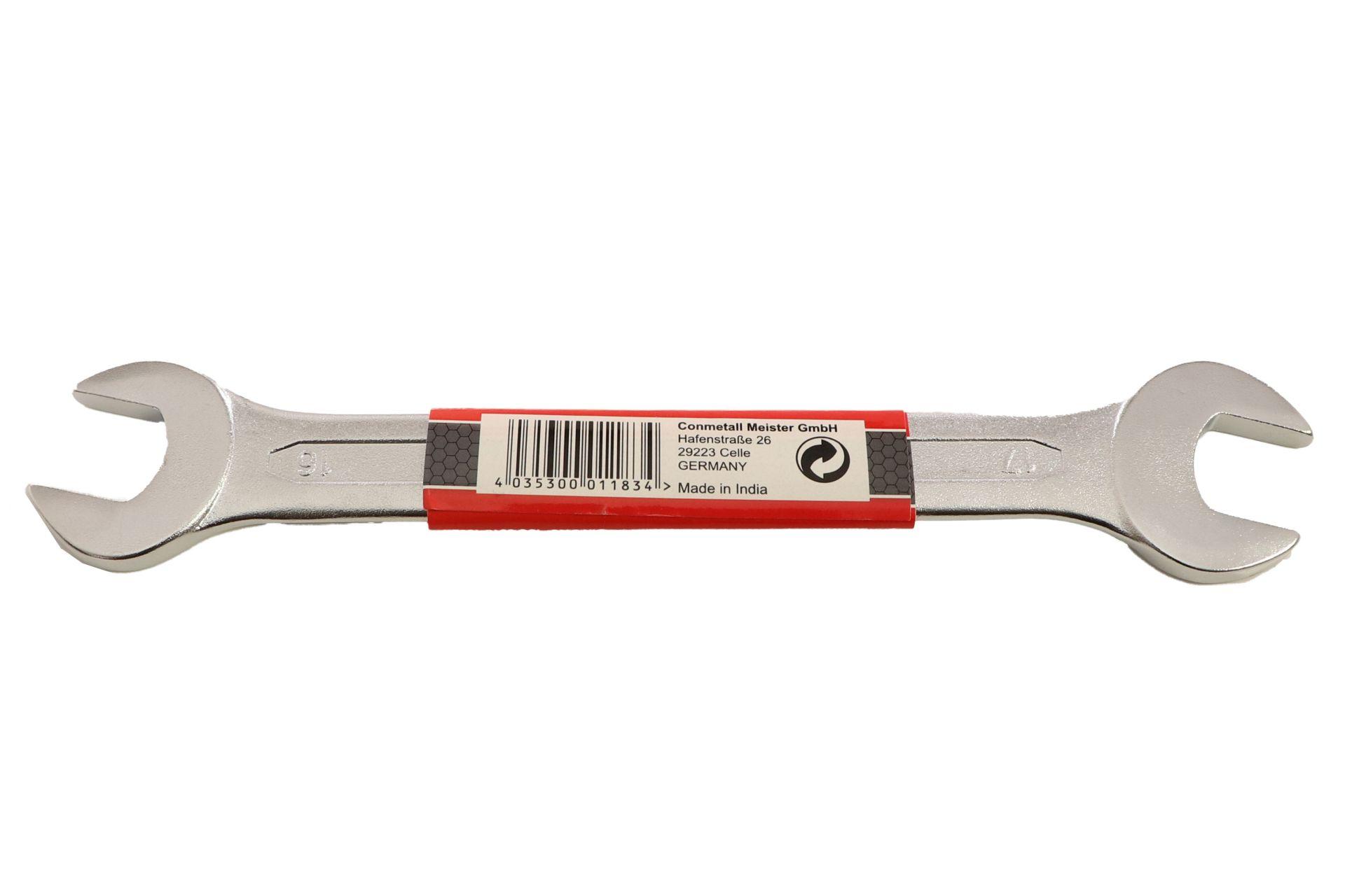 Conmetall Gabelschlüssel, Chrom-Vanadium-Stahl, 16 x 17 mm