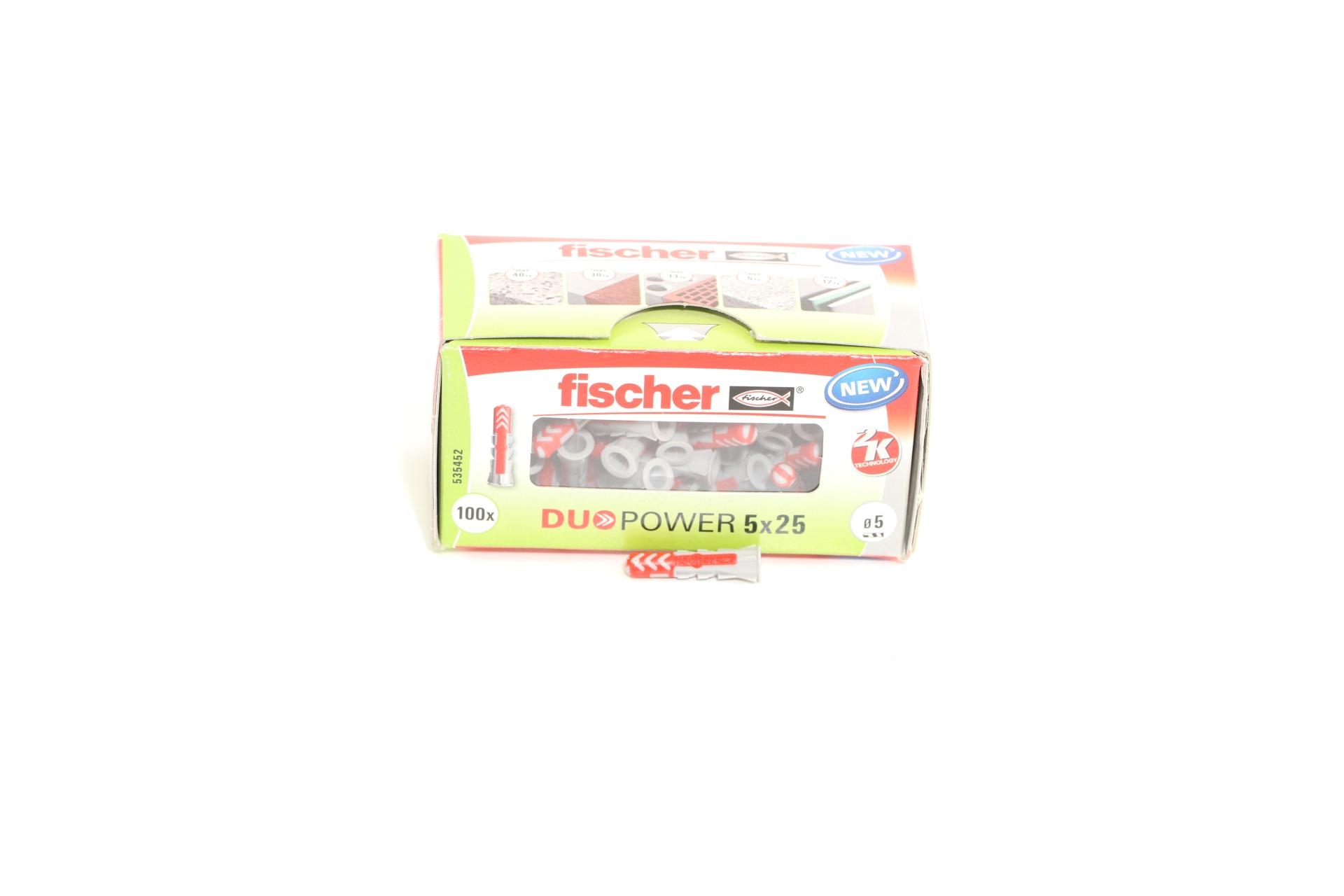 fischer Allzweckdübel DUOPOWER 5 x 25, 100 Stück