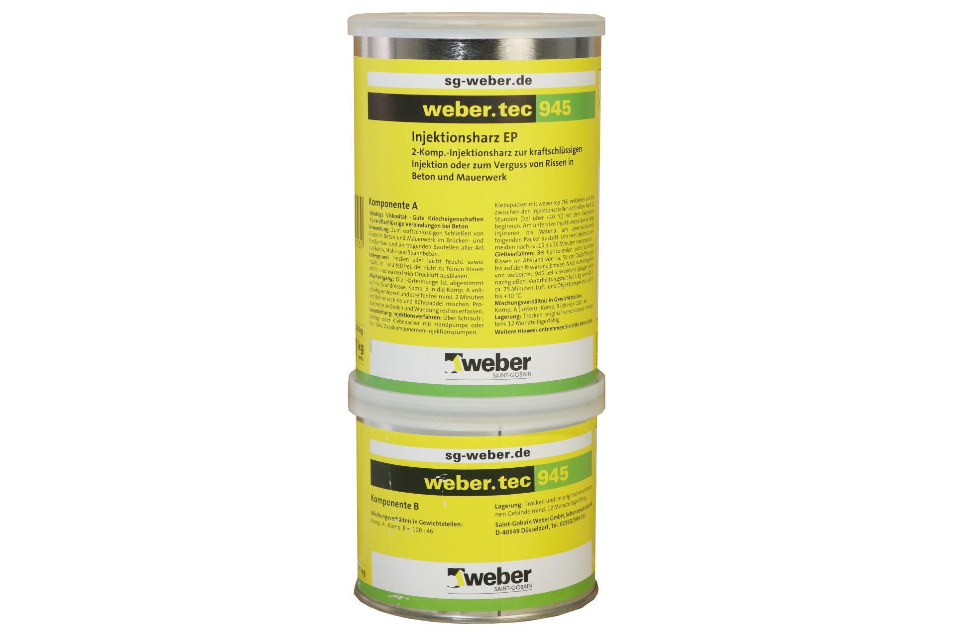 weber.tec 945, Injektionsharz EP, transparent, gelblich, 1 kg