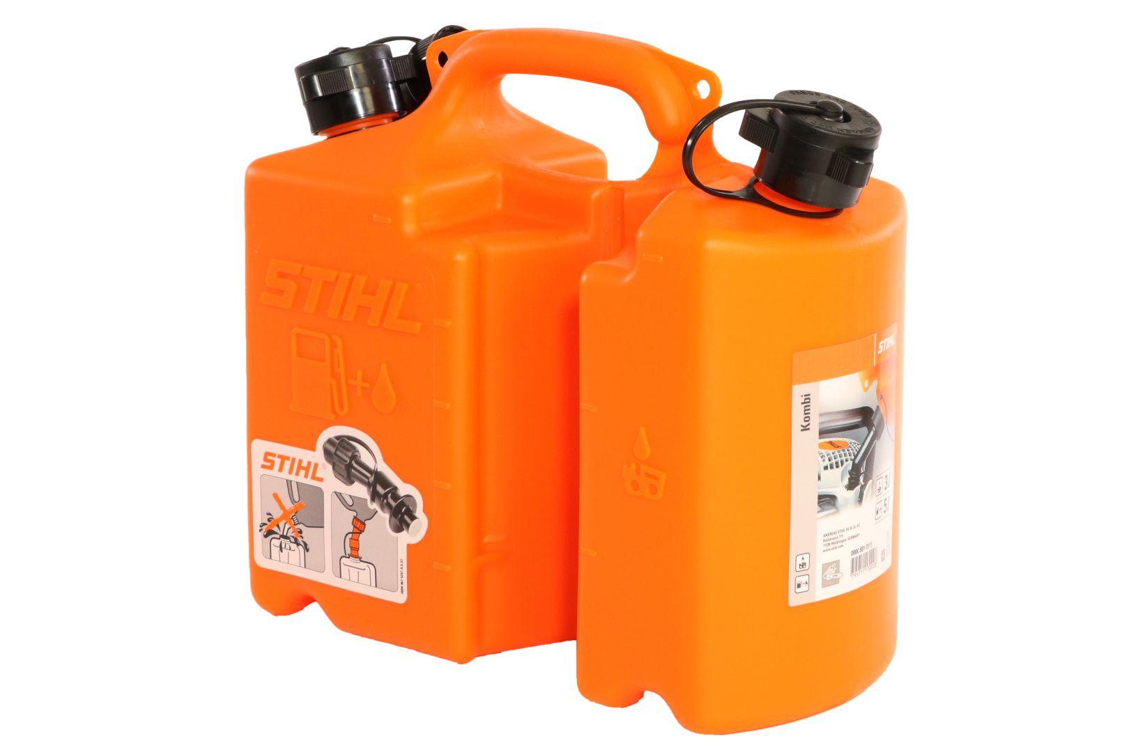 STIHL Kombi-Kanister orange Standard, für 5 l Kraftstoff und 3 l Sägekettenhaftöl