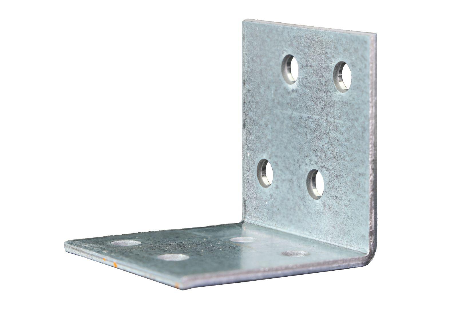 GAH Winkelverbinder, Lochplattenwinkel, sendzimirverzinkt, 40 x 40 x 40 mm, Stärke: 2 mm