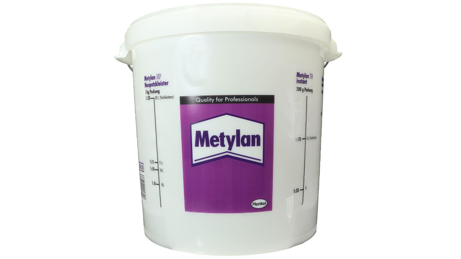 Metylan Tapeziereimer, Anrühreimer, Kunststoff, transparent, rund, 30 l