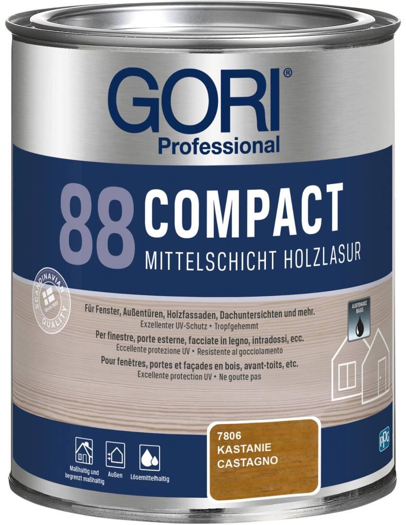 GORI Professional 88 COMPACT, Mittelschicht-Holzlasur, kastanie, 0,75 l