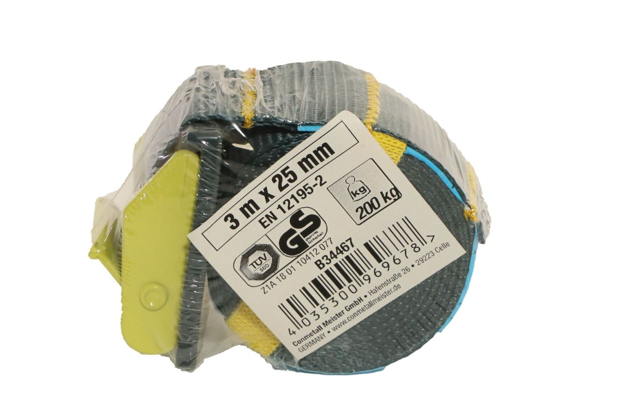 CONNEX Mini-Zurrgurt, 3 m x 25 mm, bis 200 kg