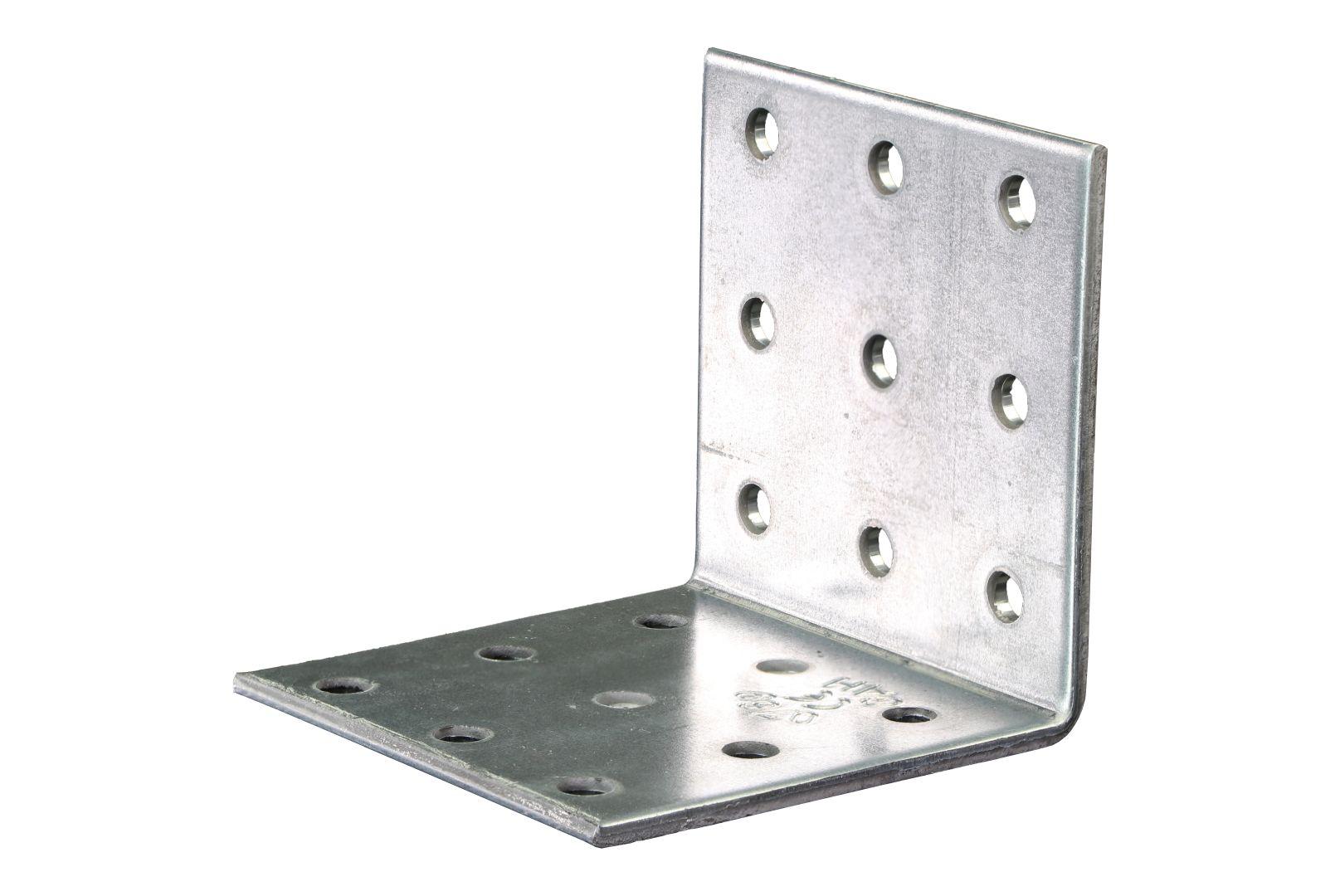 GAH Lochplattenwinkel, Winkelverbinder, sendzimirverzinkt, 60 x 60 x 60 mm, Stärke: 2,5 mm