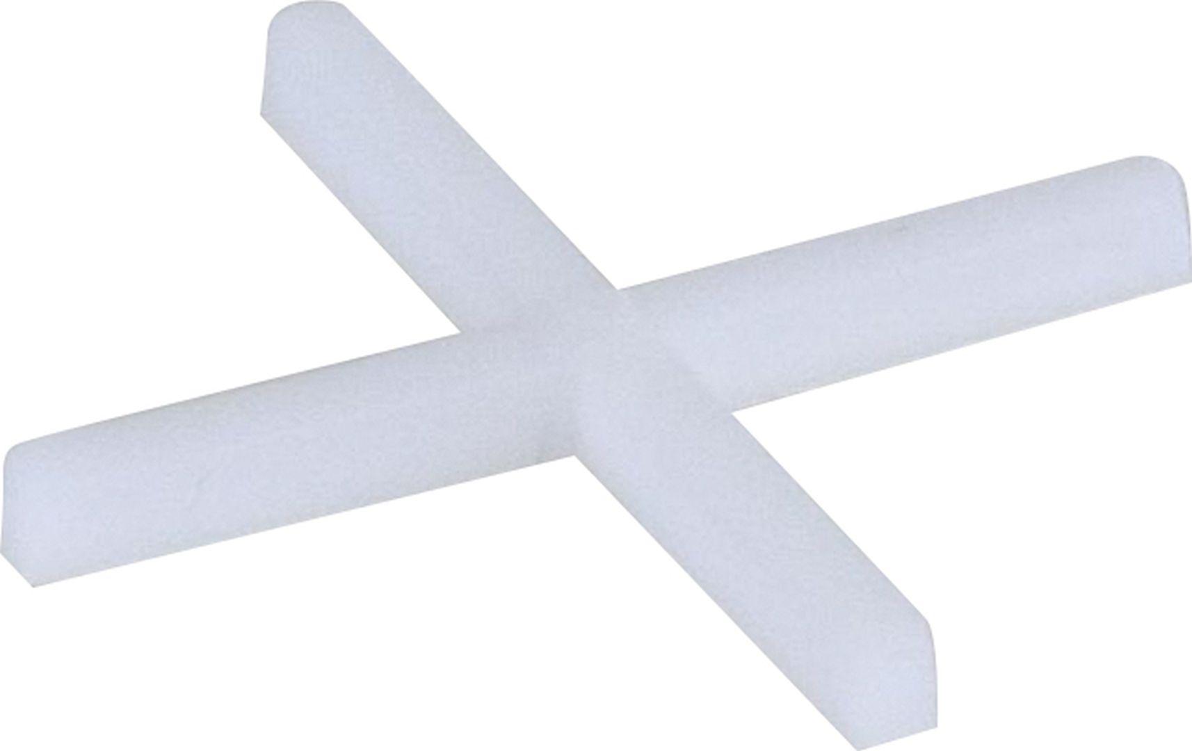 TRIUSO Fliesenkreuze aus Kunststoff, weiß, 250 Stück, 1,0 mm