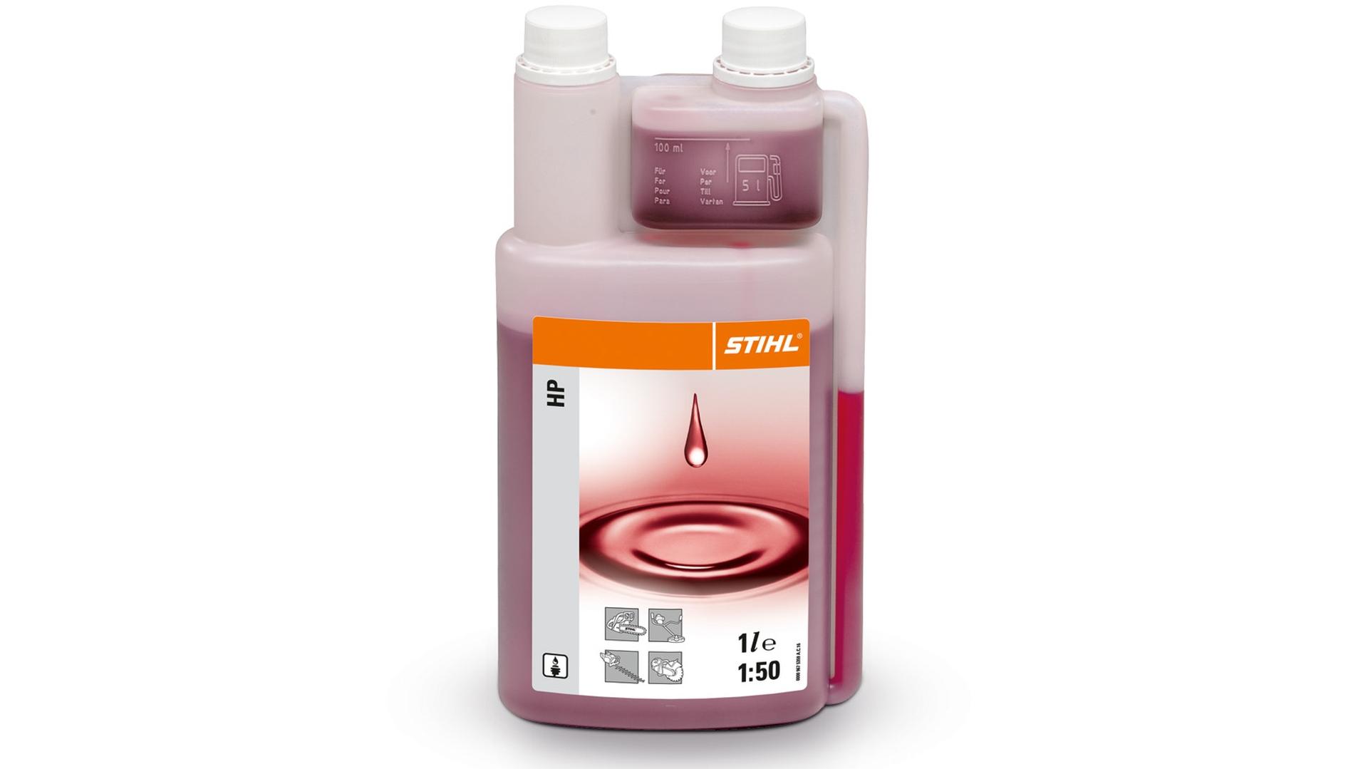STIHL Zweitakt Motorenöl HP 1:50, Leistungsklasse: JASO-FB, ISO-L-EGB, Dosierflasche, 1 l