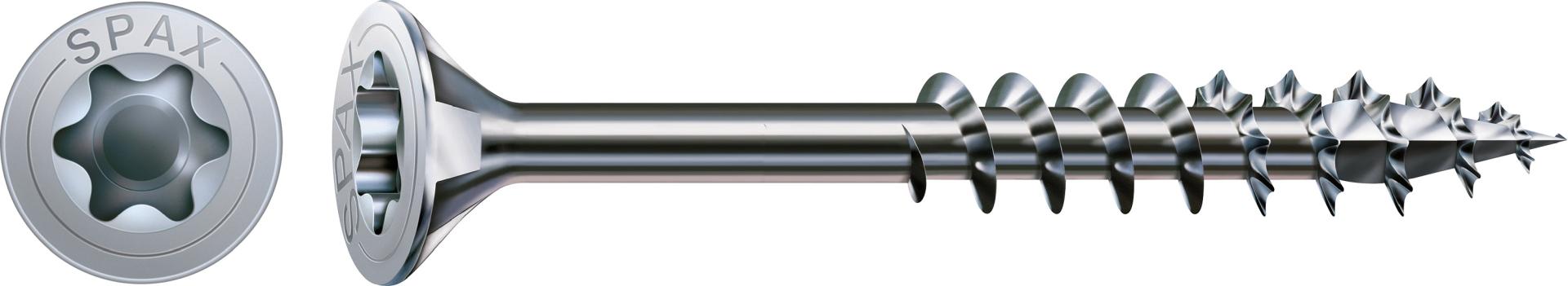 SPAX Universalschraube, Teilgewinde, Senkkopf, T-STAR plus T30, 4CUT, WIROX, 6 x 140 mm, 100 Stück