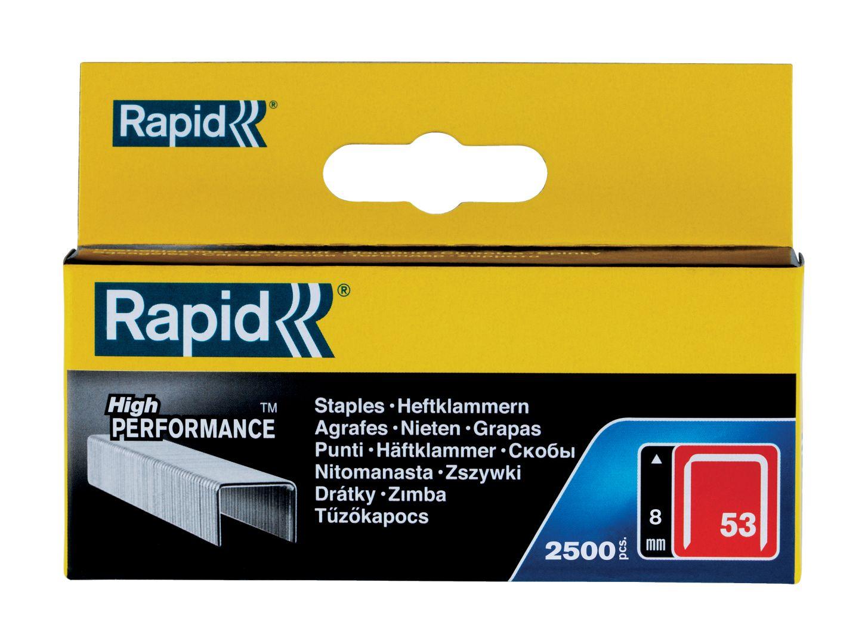 Rapid High PERFORMANCE Heftklammern, Typ 53, 8 mm Schenkellänge, 2.500 Stück