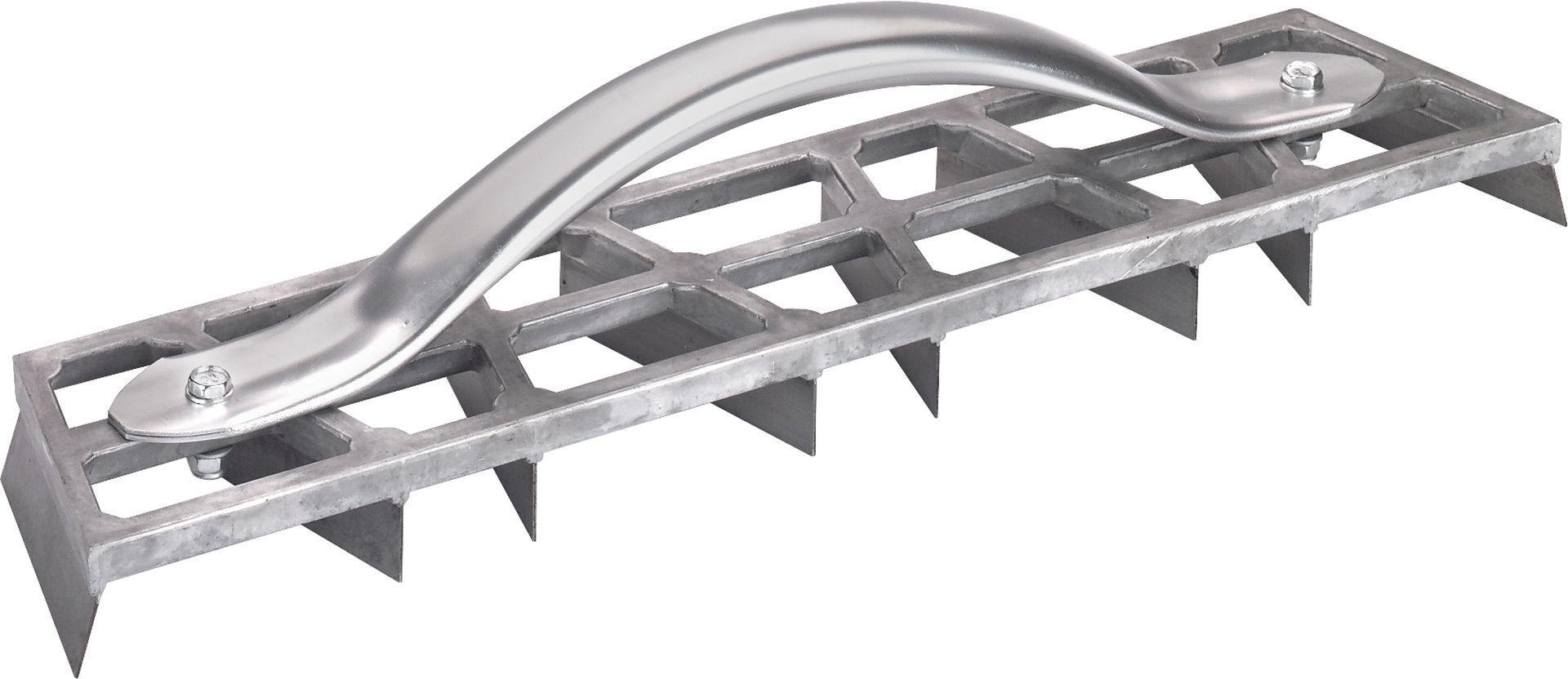 TRIUSO Aluminium-Rabott mit Griff, 8 Stahlklingen, 90 x 450 mm