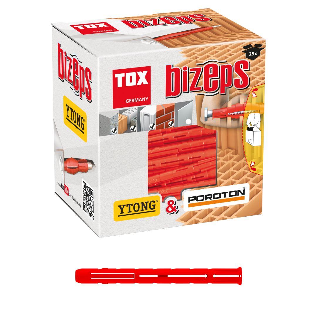 TOX Parallelspreizdübel Bizeps, 12/90, 25 Stück