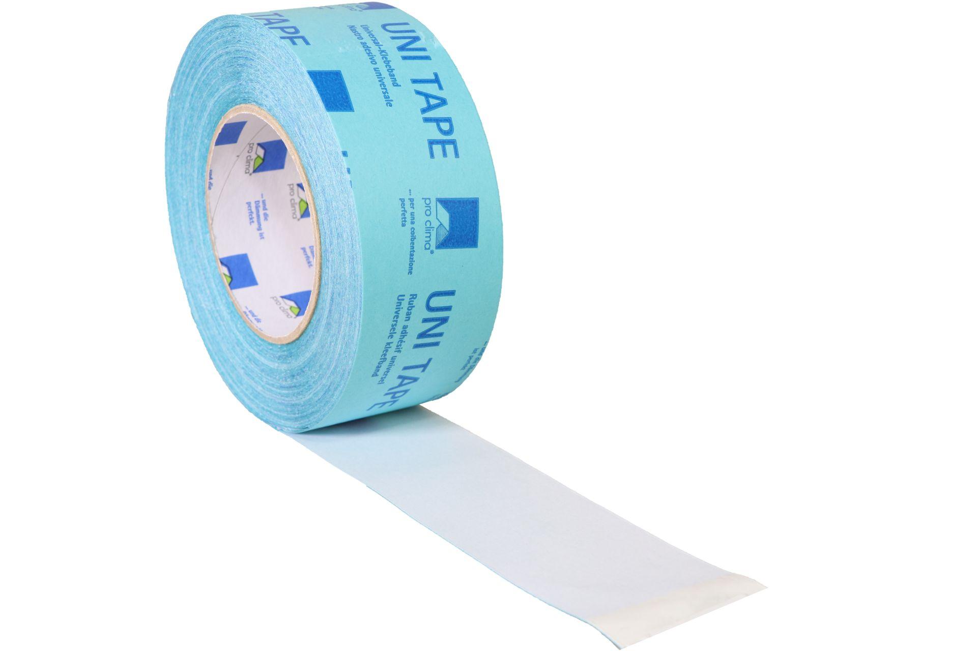 pro clima UNI TAPE Universal-Klebeband, 60 mm breit, 30 m Rolle, blau