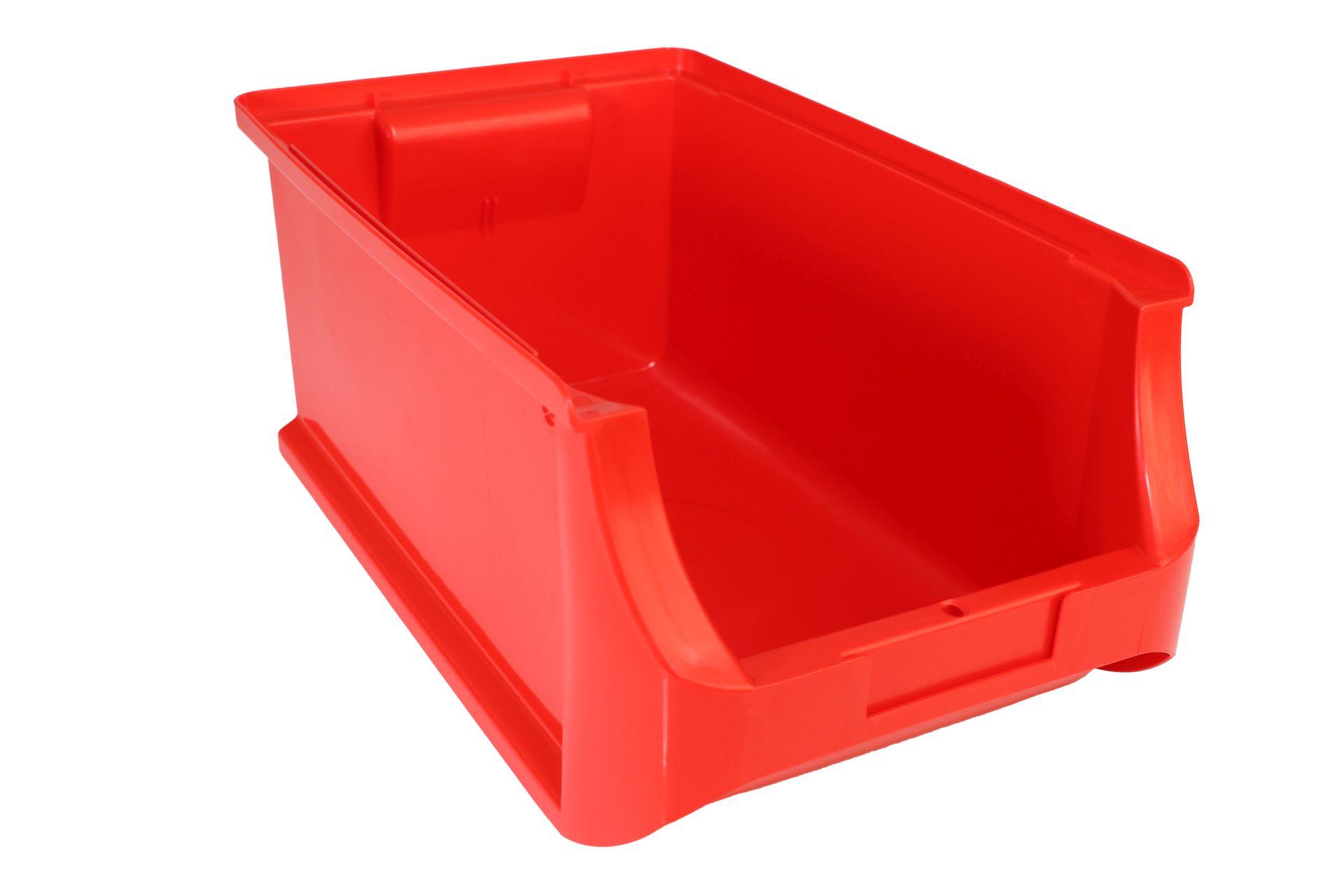 Allit Sichtlagerkasten ProfiPlus Box 4, aus PP, stapelbar, rot, 1 Karton = 12 Stück ohne Etiketten