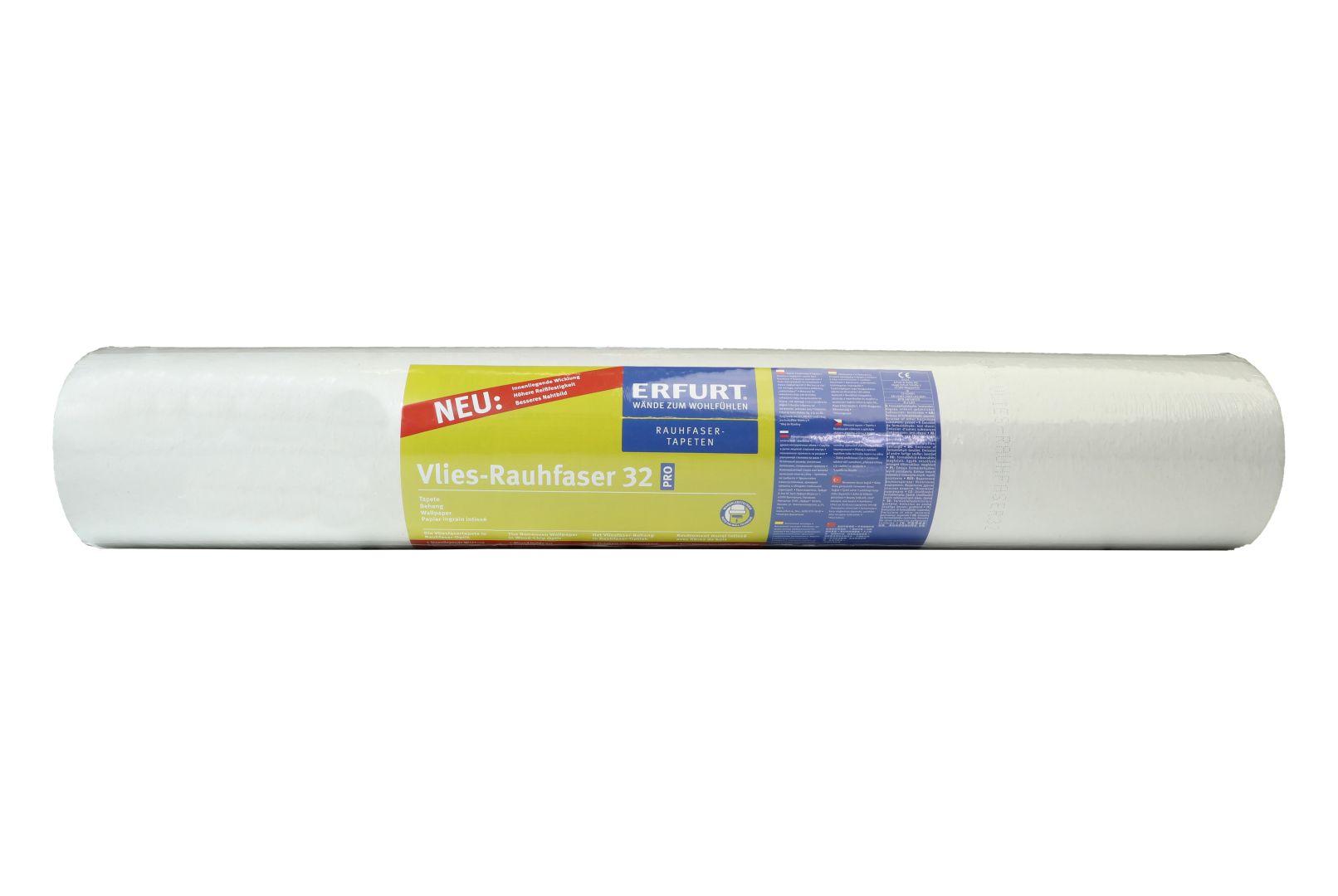ERFURT Vlies-Rauhfaser Tapete 32 Pro, elegante Struktur, 25 x 0,75 m, ausreichend für 18,75 m², Rolle