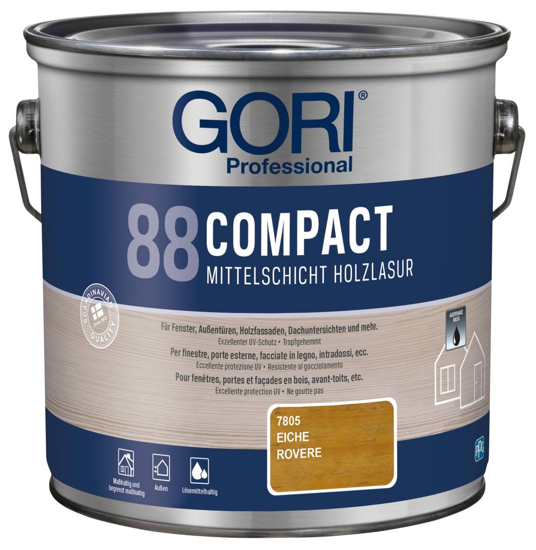 GORI Professional 88 COMPACT, Mittelschicht-Holzlasur, eiche, 2,5 l
