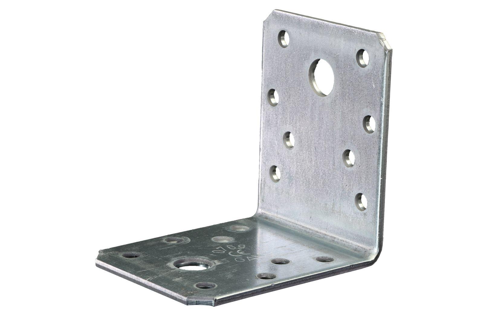 GAH Winkelverbinder, Lochplattenwinkel, sendzimirverzinkt, 70 x 70 x 55 mm, Stärke: 2 mm