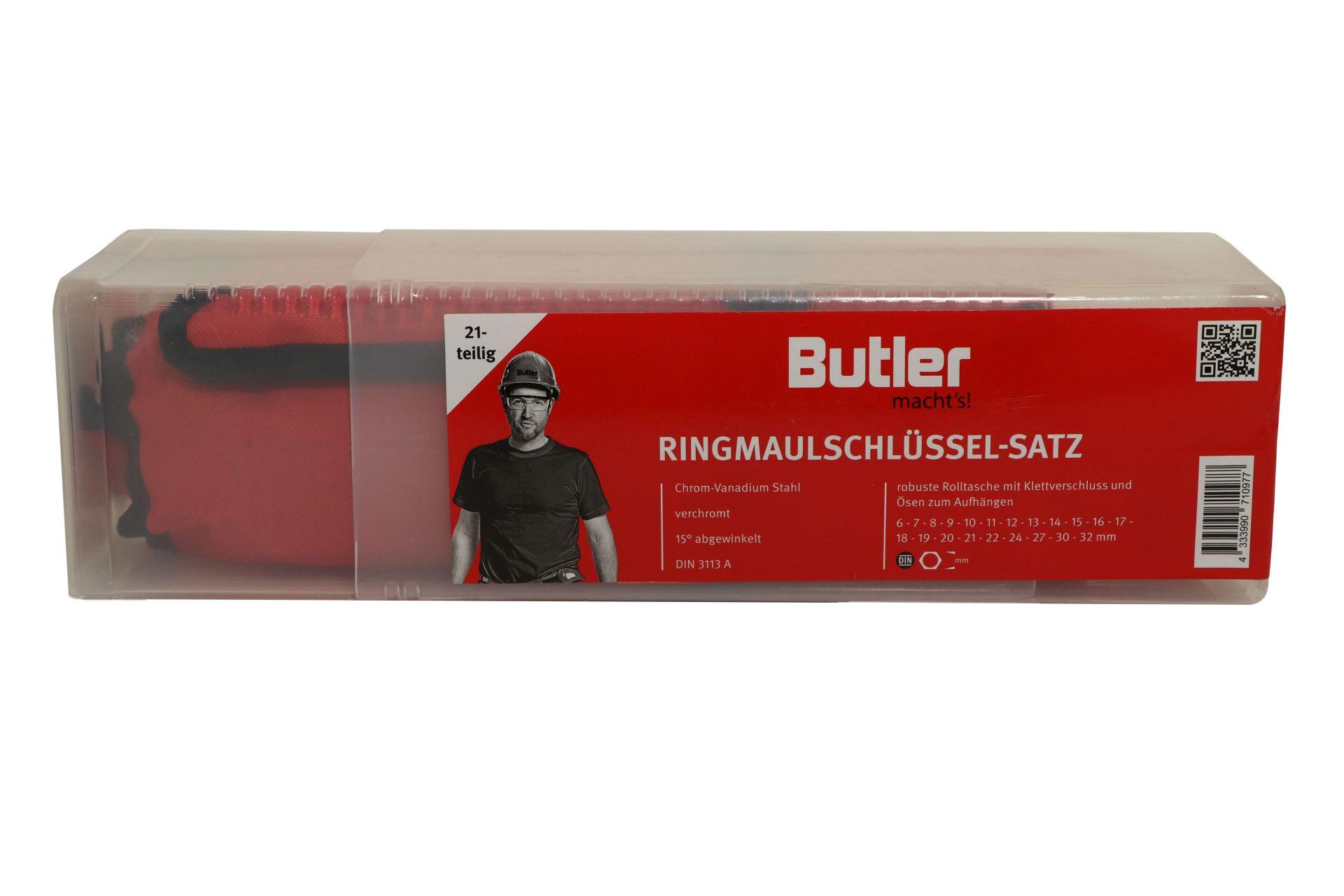 Butler macht's! Ring-Maulschluessel-Satz, DIN 3113 A, CV, 21-teilig, 6-32 mm