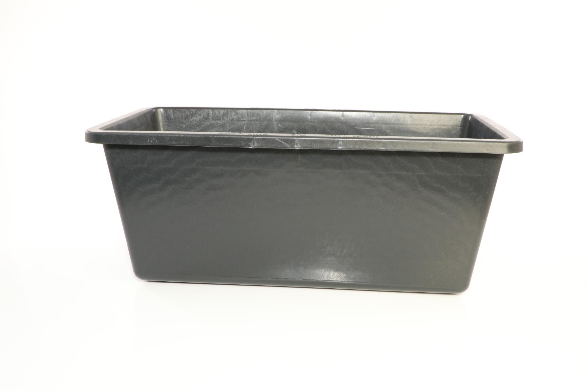 Mörtelkasten, Mörtelkübel, Mörtelwanne, Zementwanne, aus PVC, eckig, schwarz, 65 l