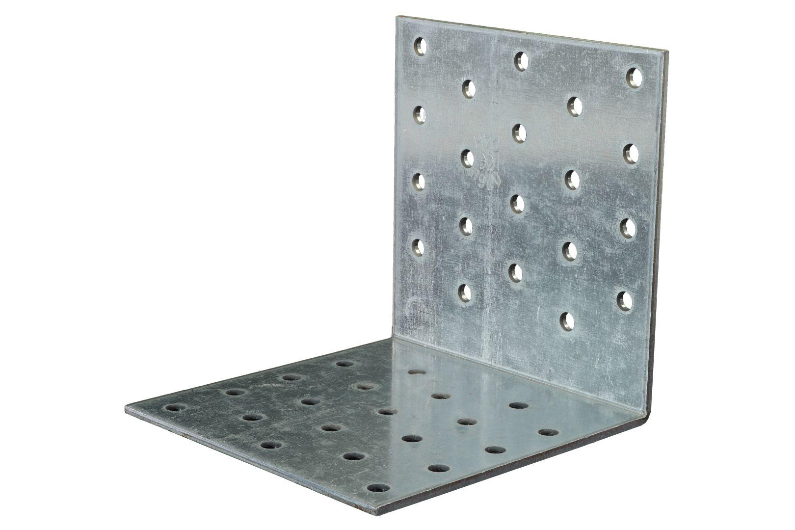 GAH Lochplattenwinkel, Winkelverbinder, sendzimirverzinkt, 100 x 100 x 100 mm, Stärke: 2,5 mm