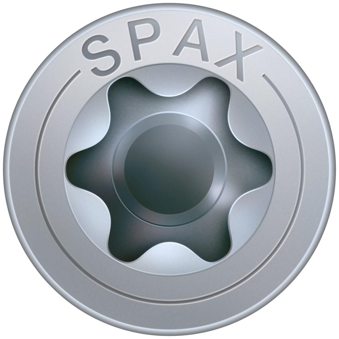 SPAX Universalschraube, Teilgewinde, Senkkopf, T-STAR plus T20, 4CUT, WIROX, 4 x 50 mm, 100 Stück