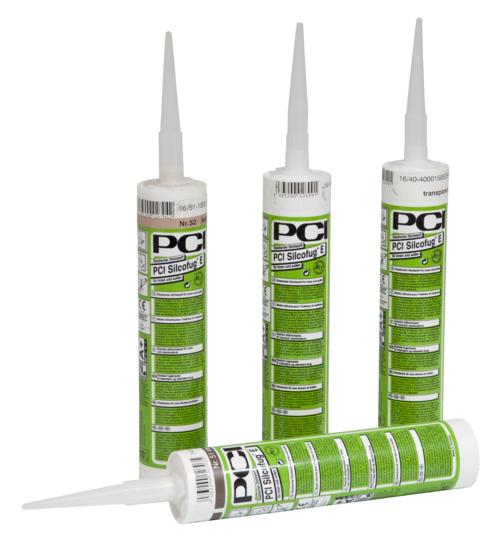 PCI Silcofug E, elastischer Silikon-Dichtstoff, essigvernetzend, Nr. 01 brillantweiß, 310 ml