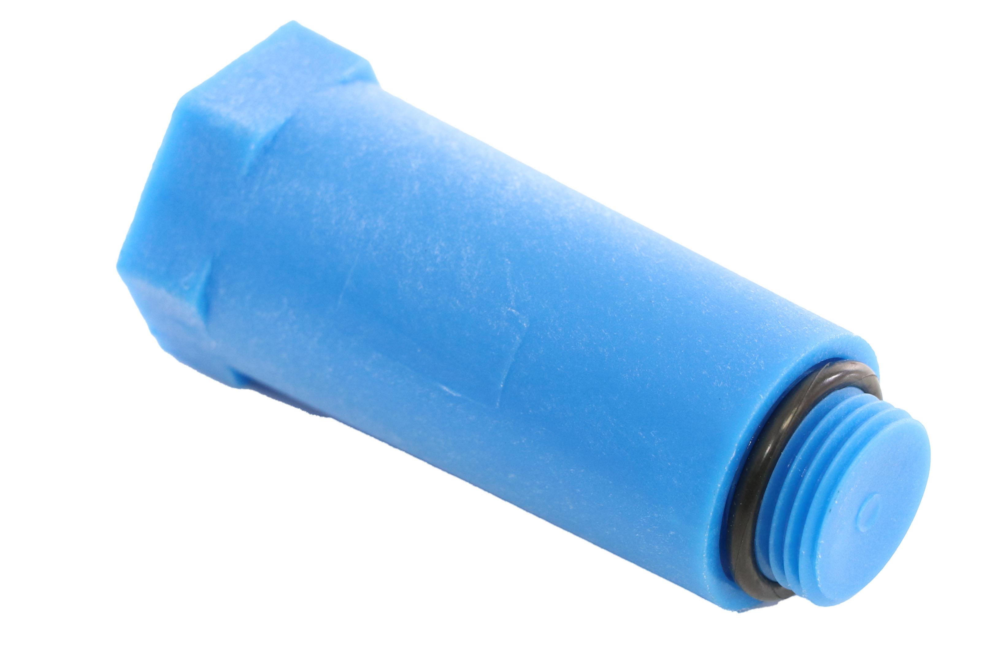 """Simplex Sanitär Baustopfen 1/2"""",  mit Dichtung, Kunststoff, blau"""