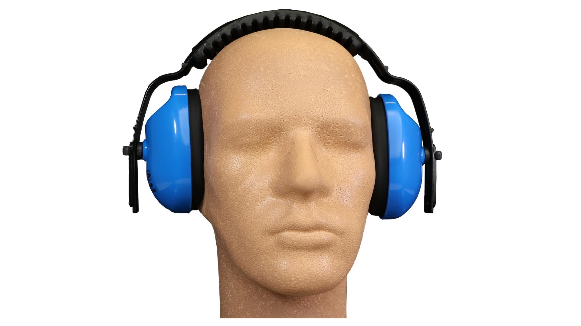 L+D Kapselgehörschutz 23 dB, Standard-Profi-Qualität, Universalgröße, Zulassung nach EN 352-1, blau