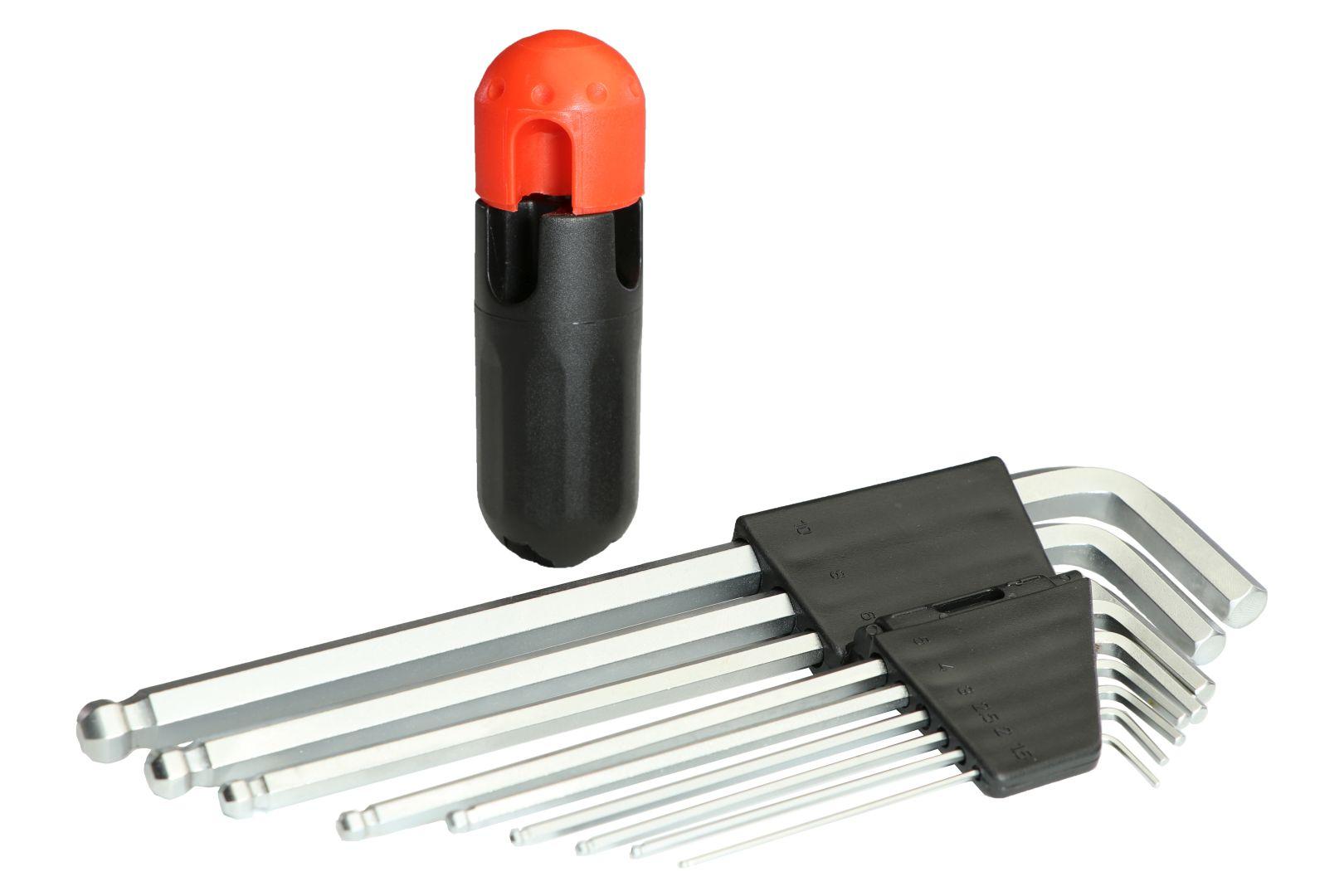 GO/ON Innensechskantschlüssel, mit Kugelkopf, 9-teilig