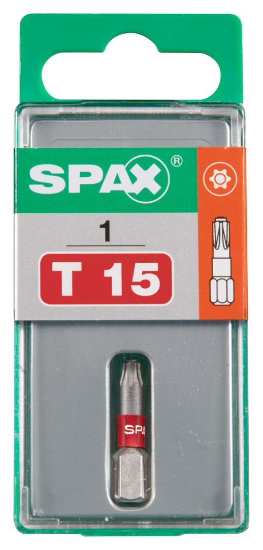SPAX Bit T-STAR plus T 15, 6,4 x 25 mm