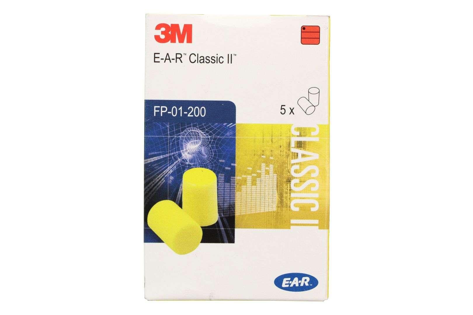 3M Gehörschutzstöpsel E-A-R Classic II, 5 Paar