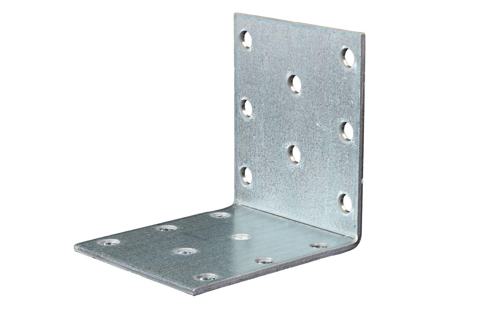 GAH Lochplattenwinkel, Winkelverbinder, sendzimirverzinkt, 60 x 60 x 50 mm, Stärke: 2 mm