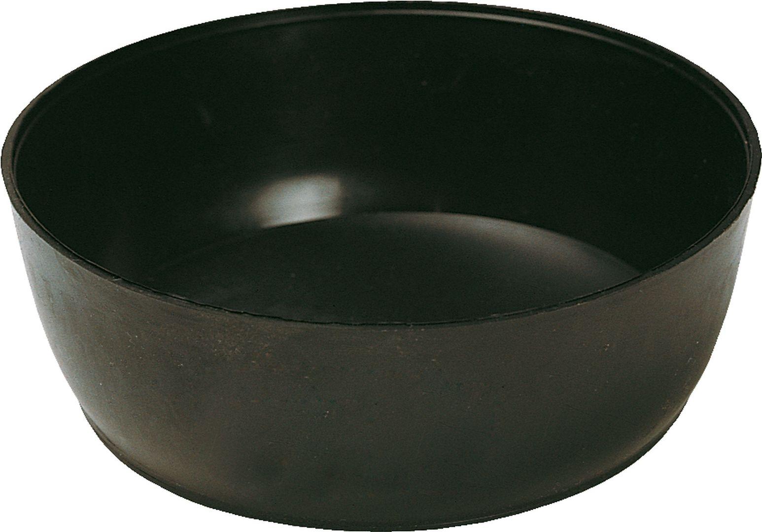TRIUSO Gipsbecher aus technischem Gummi, schwarz