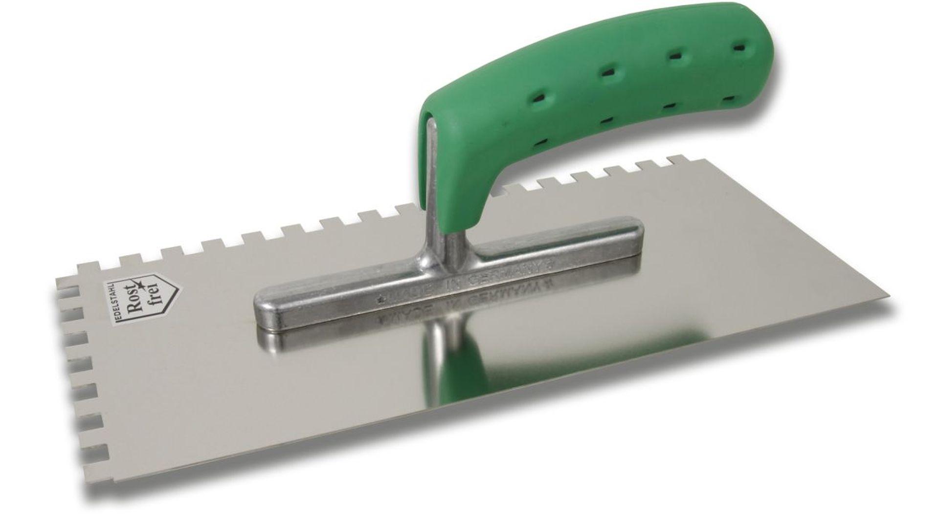 HUFA Glättekelle mit 2K Soft Griff, Zahnung 4 x 4 mm, 130 x 280 mm