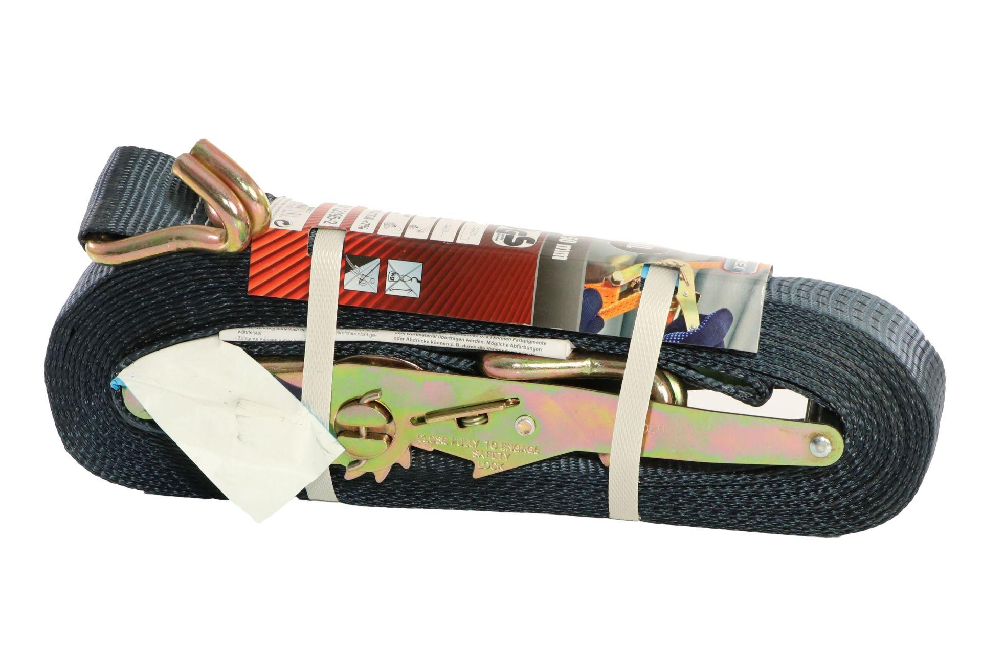 CONNEX Zurrgurt mit Ratsche und Haken, 12 m x 50 mm, bis 4000 kg