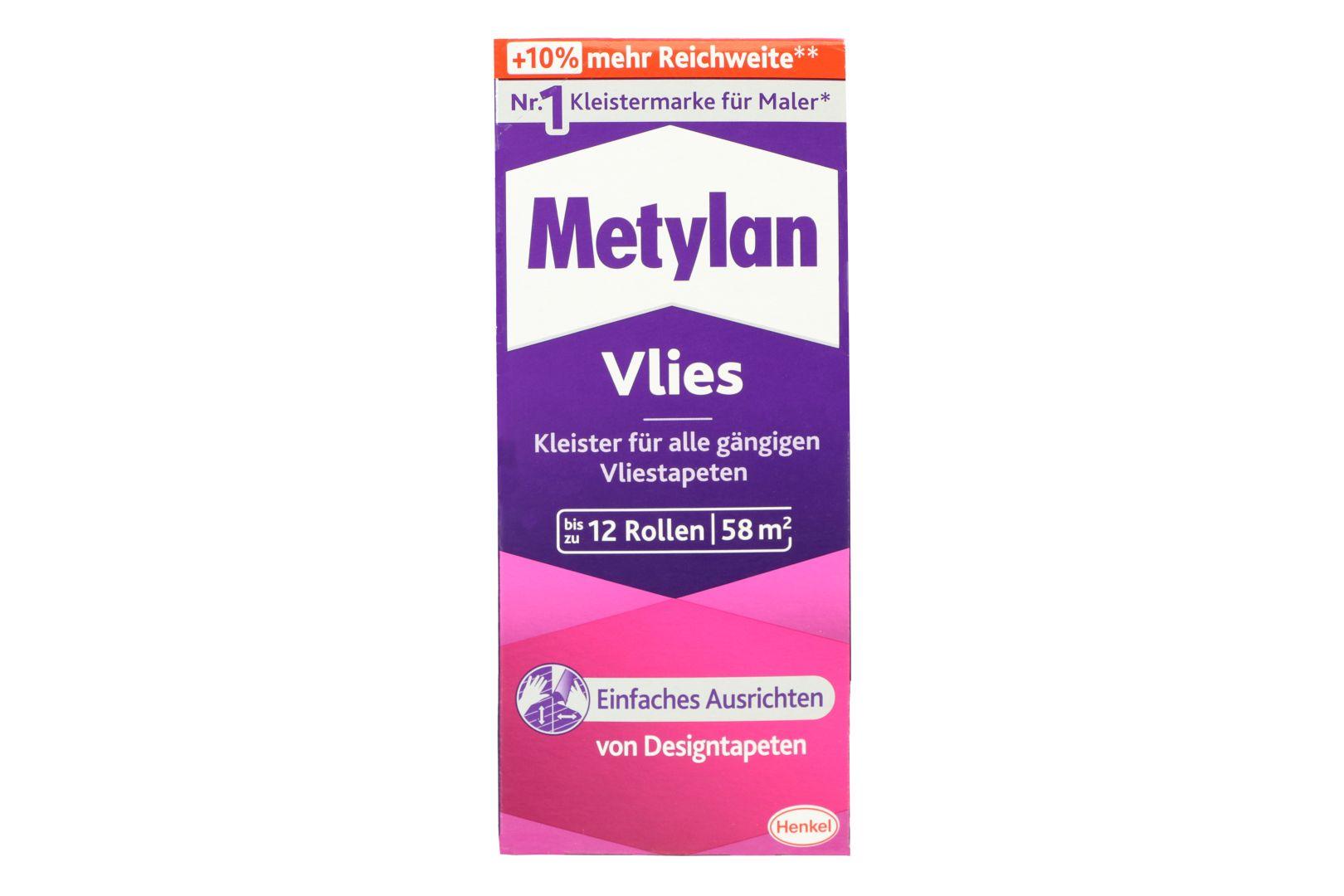 Metylan Vlies, Kleister für Vliestapeten, Ausbeute ca. 58 m², 360 g