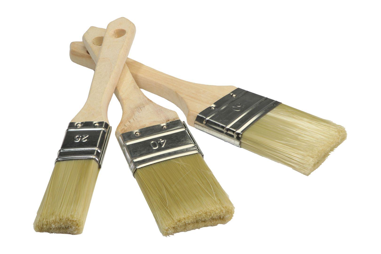GO/ON Lackierpinsel-Set, für Lasur und Lackierung von Holz, 1 x 25 mm, 1 x 38 mm, 1 x 50 mm, 3-teilig