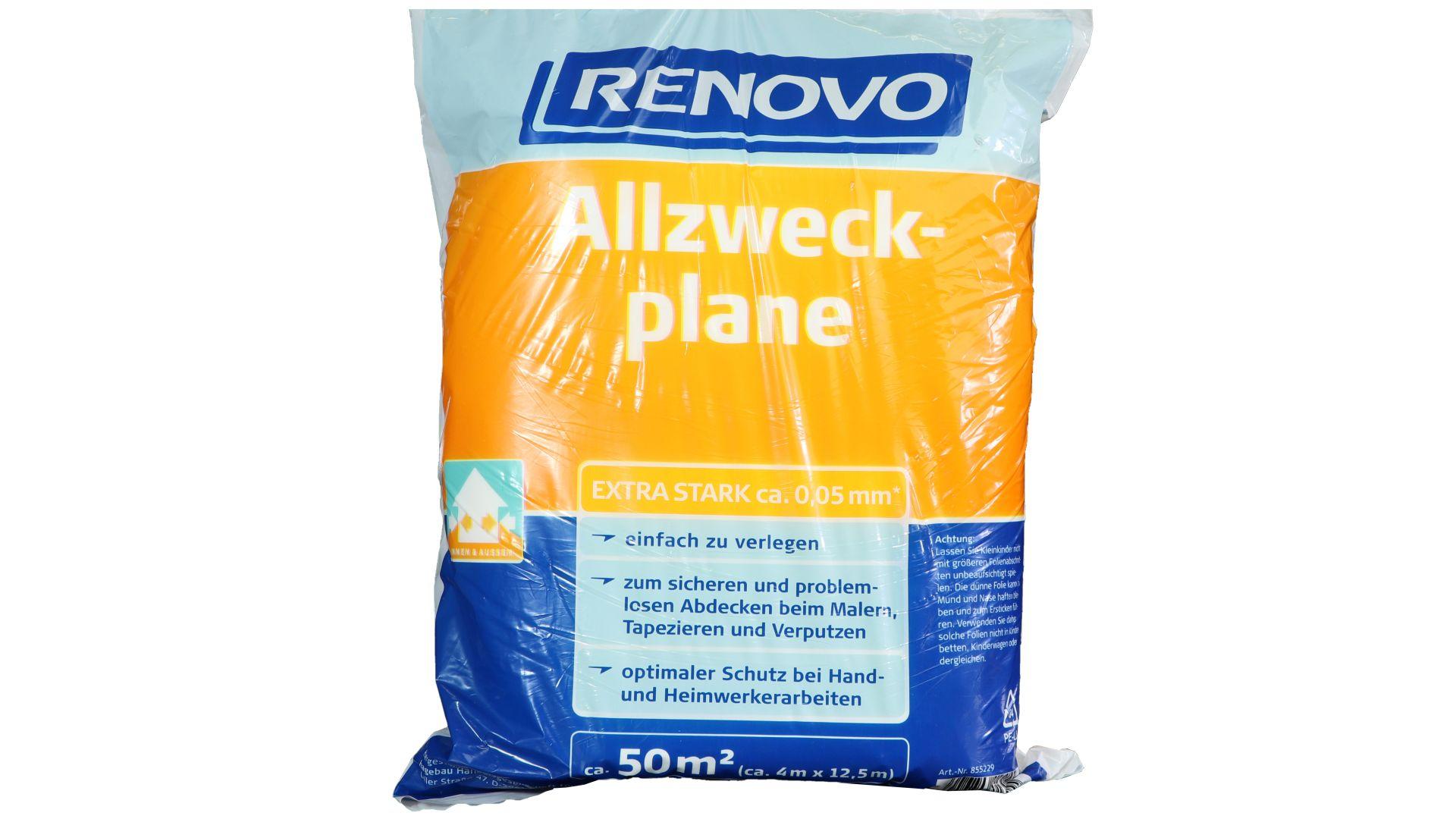 RENOVO Allzweckplane, 12,5 x 4 m x 50 µm