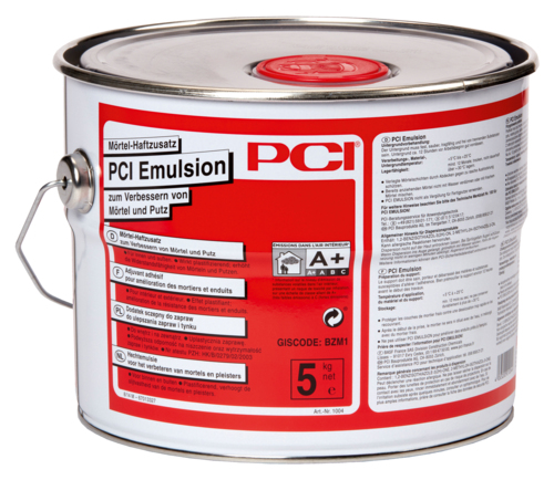 PCI Emulsion, Mörtel-Haftzusatz, verbessert Mörtel und Putz, 5 kg