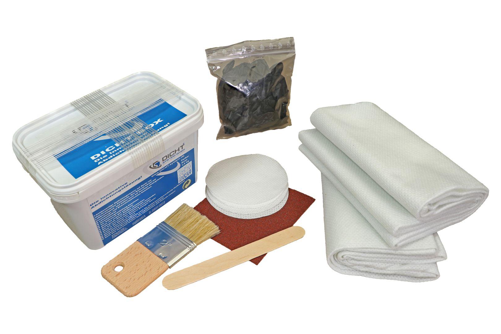 DICHT system DICHT-Box Abdichtungssystem, ausreichend für ca. 0,8 m², lösemittelfrei, grau, 1,5 kg