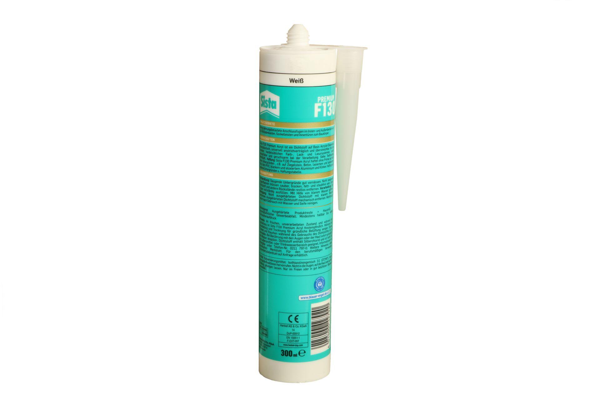 Henkel Sista F130 Premium Acryl, weiß, 300 ml