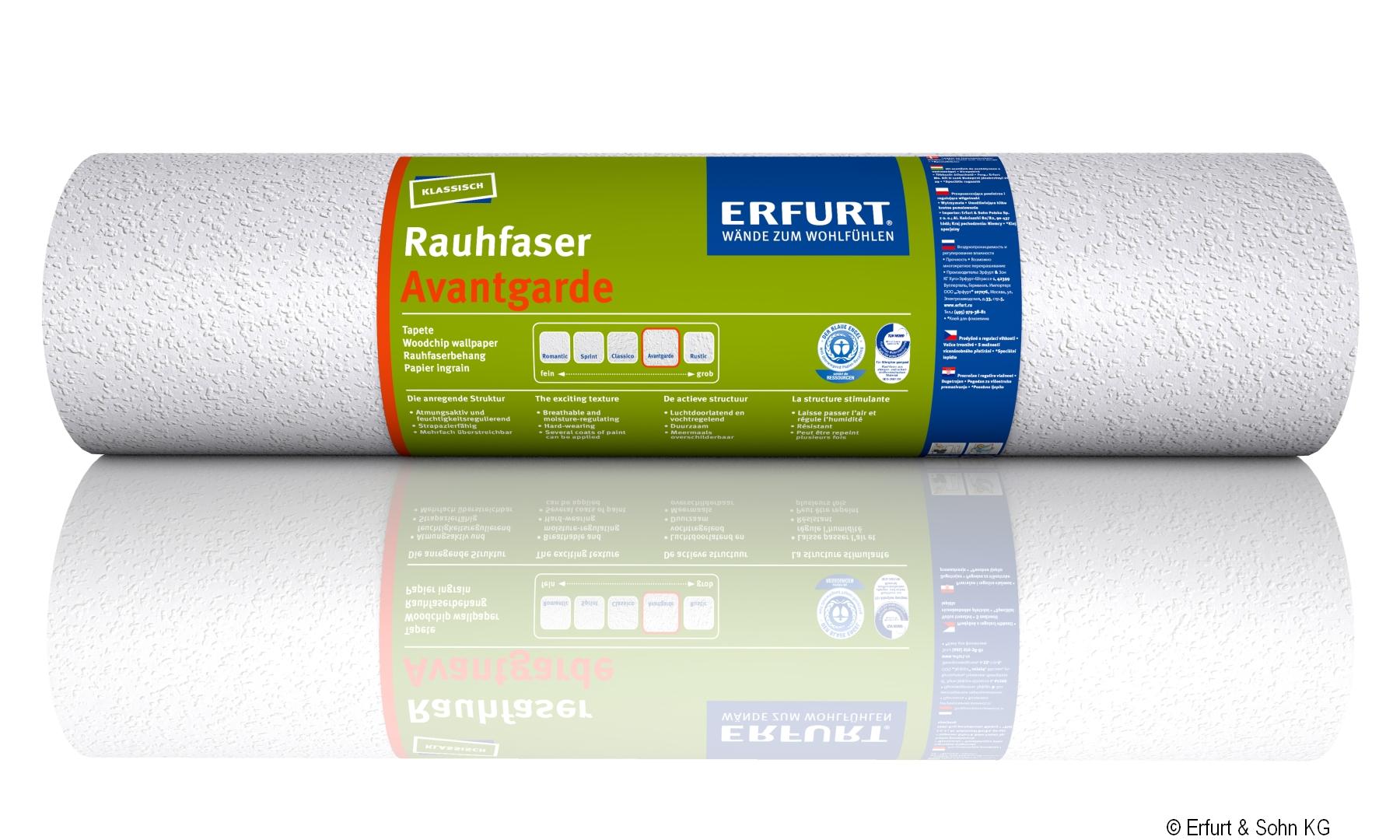 """ERFURT """"Das Original"""" Rauhfaser Tapete Avantgarde, anregende Struktur, 20 x 0,53 m, ausreichend für 10,6 m², 1 Rolle"""