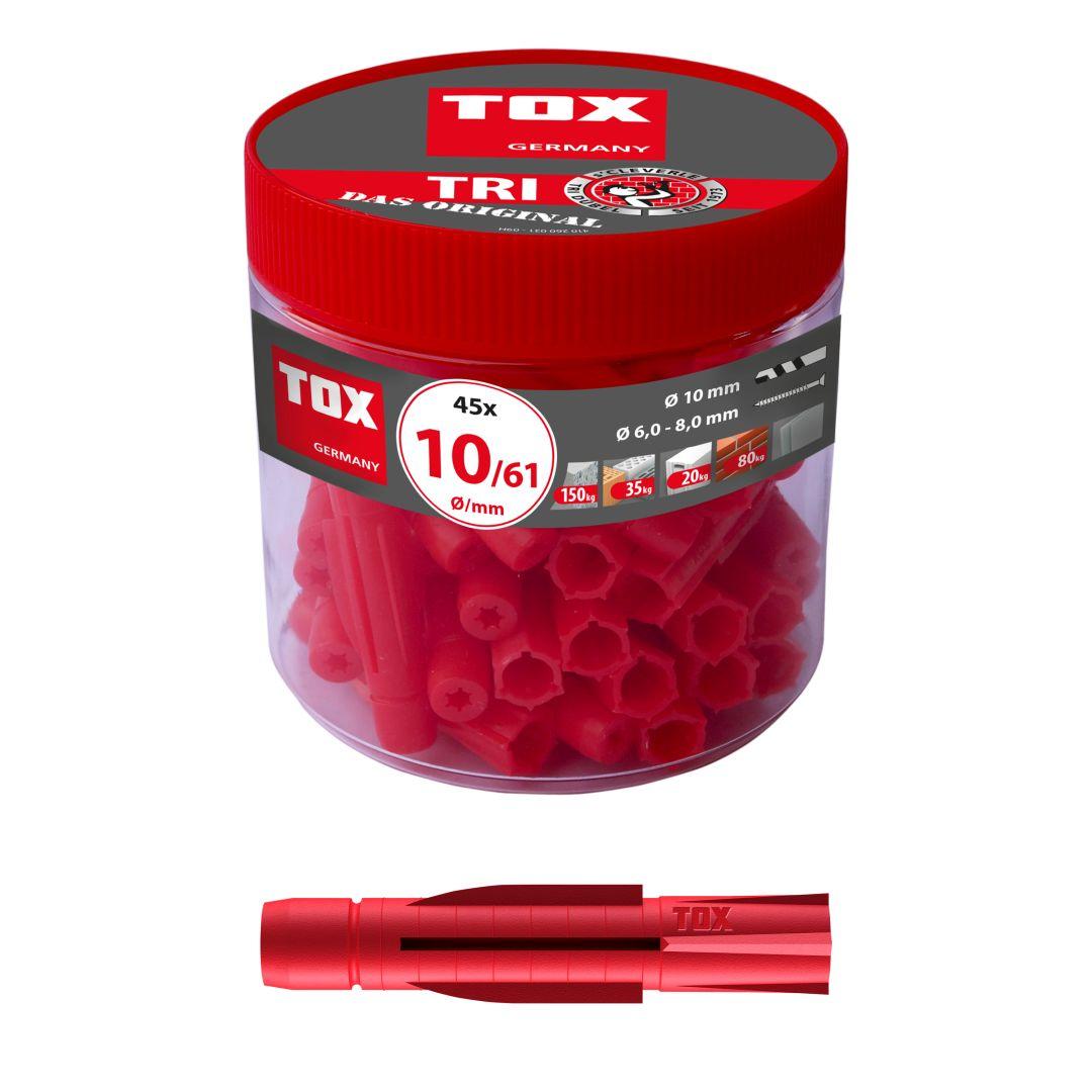 TOX Allzweckdübel TRI, 10/61, 45 Stück, RUDO