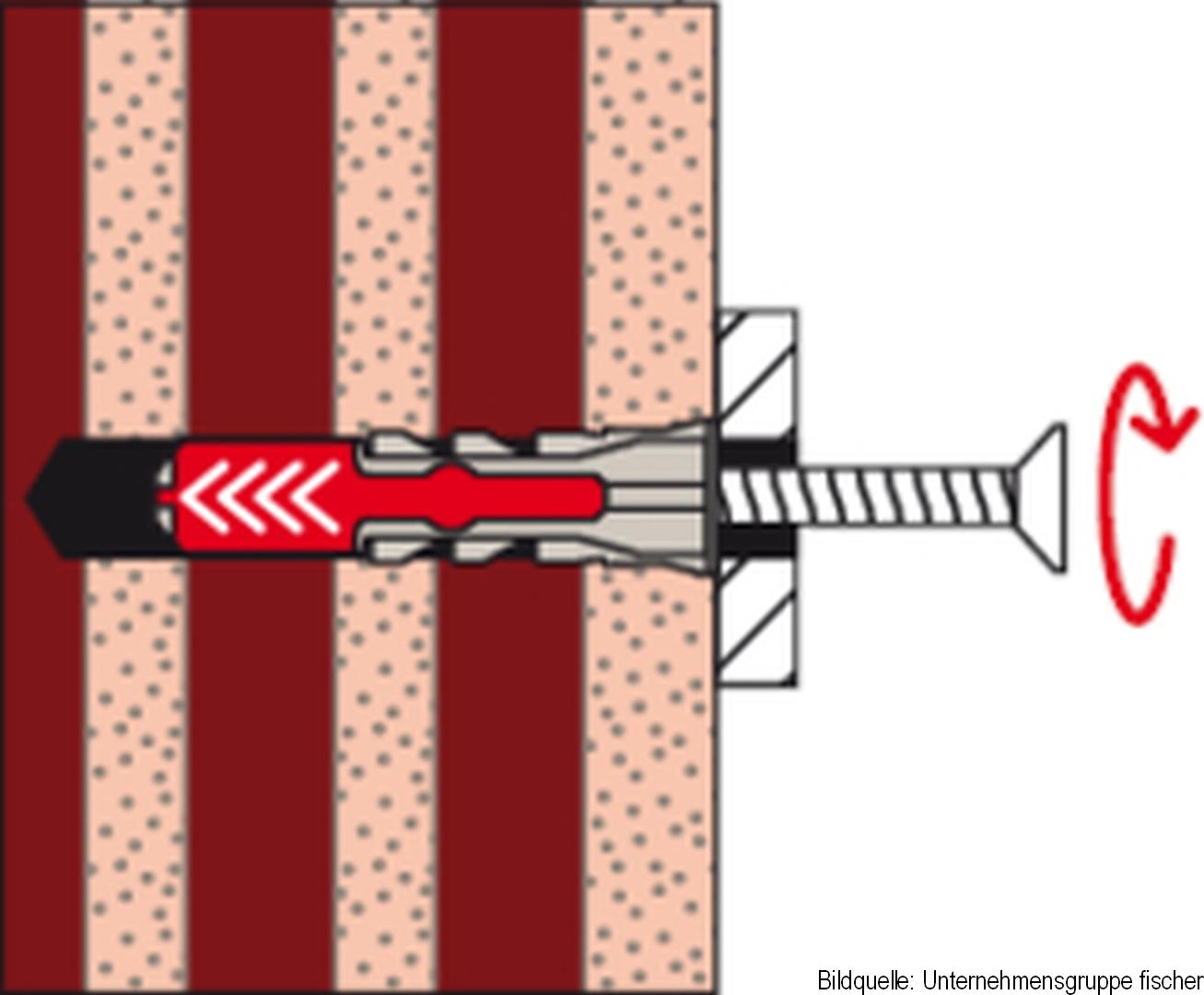 fischer Allzweckdübel DUOPOWER 8 x 65, 8 Stück