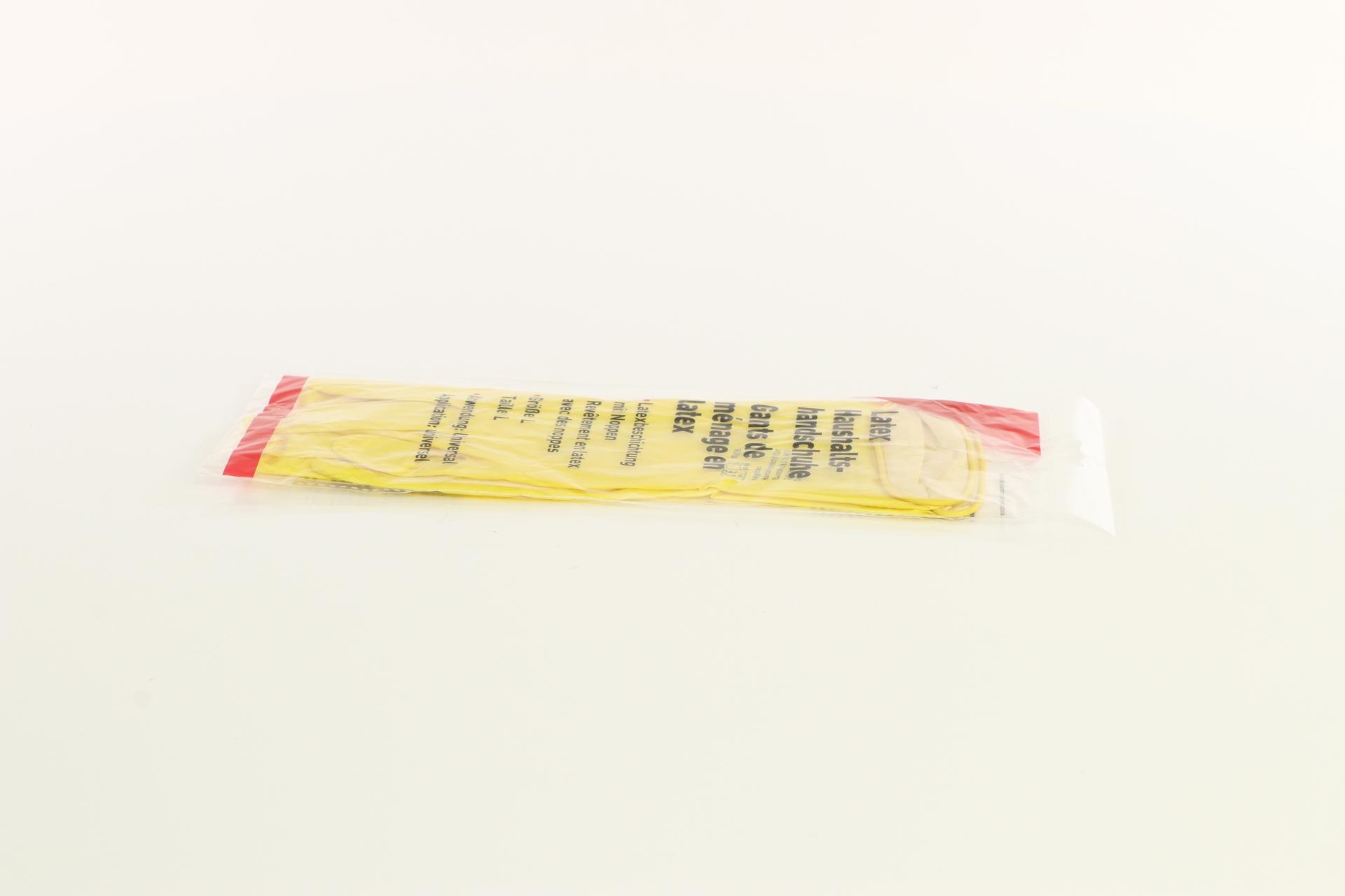 Latex Haushaltshandschuhe, gelb, Größe L