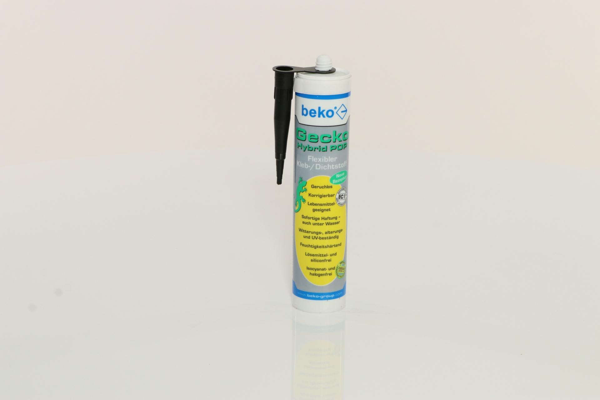 beko Gecko Hybrid Pop, flexibler 1K Kleb-/Dichtstoff, schwarz