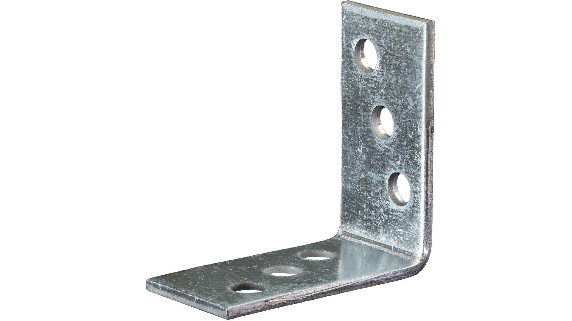 GAH Winkelverbinder, Lochplattenwinkel, sendzimirverzinkt, 40 x 40 x 20 mm, Stärke: 2 mm