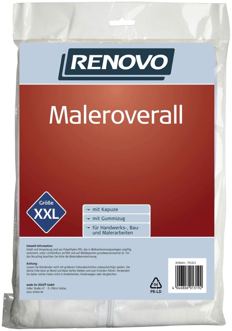 RENOVO Maleroverall, atmungsaktives Obermaterial, Größe XXL