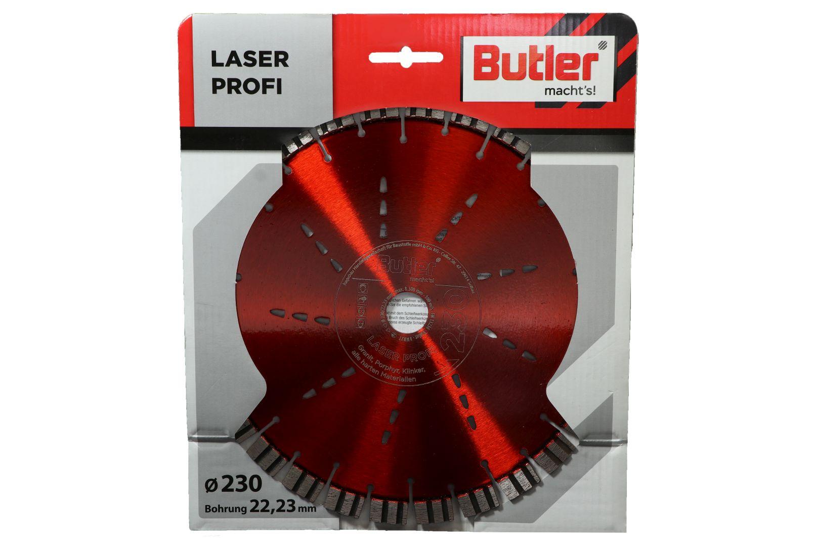 Butler macht's! Diamant-Trennscheibe Laser Profi, Bohrung: 22,23 mm, Ø 230 mm