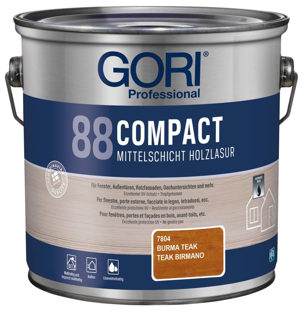 GORI Professional 88 COMPACT, Mittelschicht-Holzlasur, burma teak, 2,5 l
